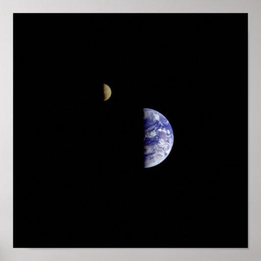 Earth Moon Galileo Space Photograph Print