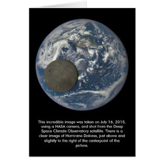 Earth & Moon's Far Side From Space Greeting Card