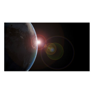 Earth-morning688 Planet Earth viewed from space in Business Cards