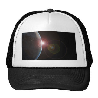 Earth-morning688 Planet Earth viewed from space in Mesh Hat