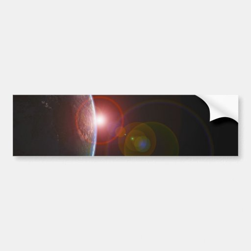 EARTH MORNING 688 SPACE PLANETS SUNRISE BEAUTY BUMPER STICKERS