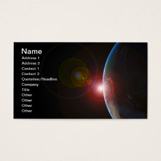 EARTH MORNING 688 SPACE PLANETS SUNRISE BEAUTY BUSINESS CARD