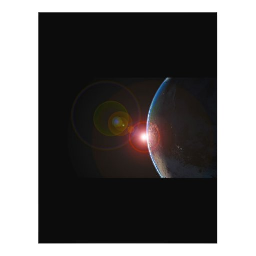 EARTH MORNING 688 SPACE PLANETS SUNRISE BEAUTY FULL COLOR FLYER