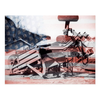 Earth Moving Equipment Operating Engineer Flag Postcard