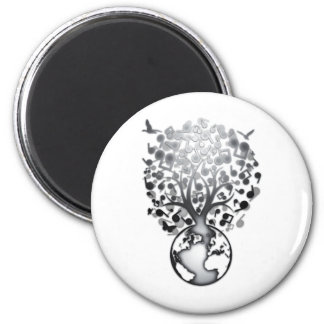 Earth_Music 6 Cm Round Magnet