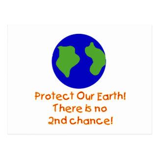 Earth No 2nd Chances Postcard