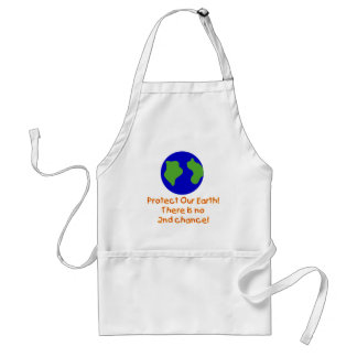 Earth No 2nd Chances T-shirts and Gifts Adult Apron