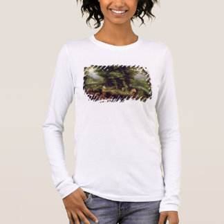 Earth or The Earthly Paradise, 1607-08 (oil on cop Long Sleeve T-Shirt