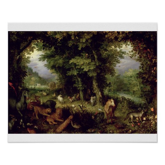 Earth or The Earthly Paradise, 1607-08 (oil on