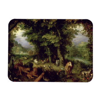 Earth or The Earthly Paradise, 1607-08 (oil on cop Rectangular Photo Magnet