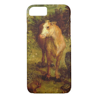 Earth or The Earthly Paradise, detail of a cow, po iPhone 8/7 Case