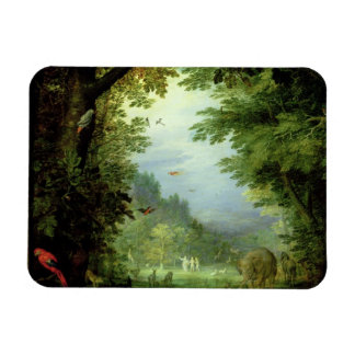 Earth or The Earthly Paradise, detail of Adam and Rectangular Photo Magnet
