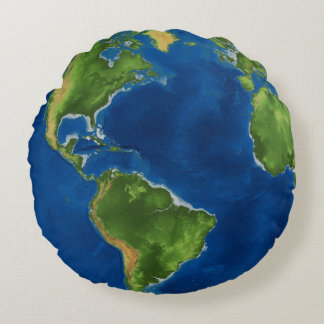 Earth Our Planet Round Cushion