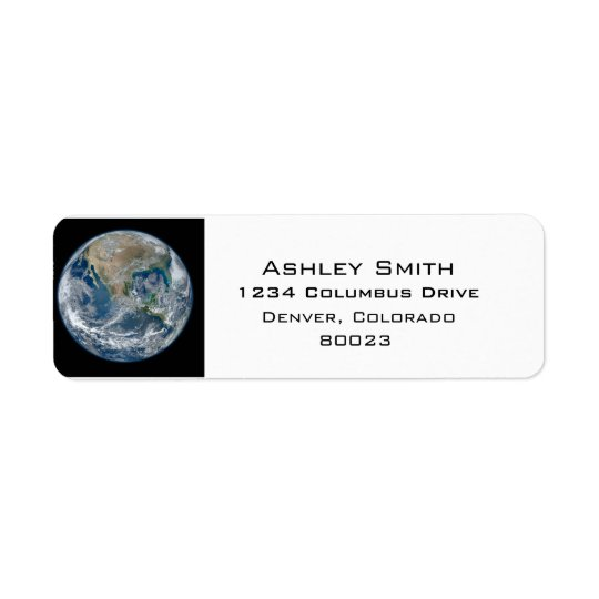 Earth our world return address label