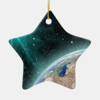 Earth Outer Space Ceramic Star Decoration