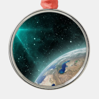 Earth Outer Space Christmas Ornament