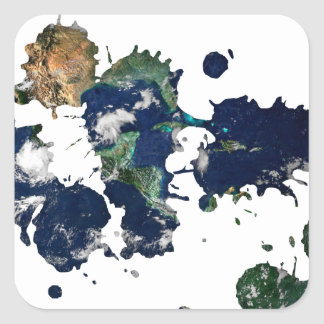 Earth Paint Square Sticker