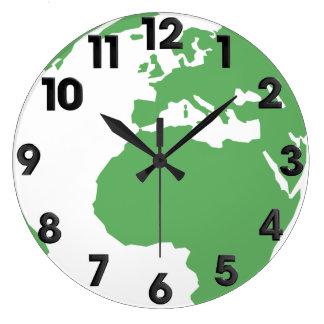 Earth pattern large clock