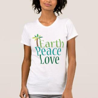 Earth Peace Love Earth Day T-shirt