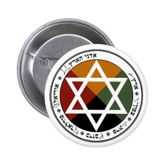 Earth Pentacle 6 Cm Round Badge