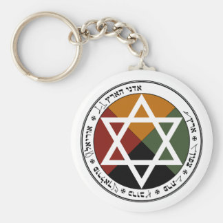'Earth Pentacle' Basic Round Button Key Ring