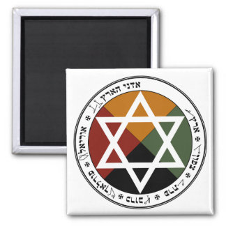 Earth Pentacle Square Magnet