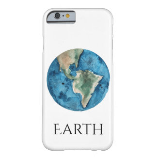 Earth Planet Watercolor iPhone Case