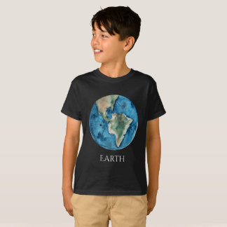 Earth Planet Watercolor Kid's T T-Shirt
