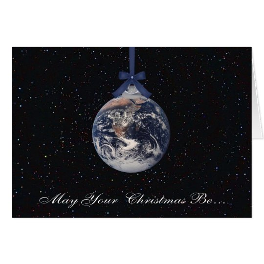 Earth Planets Christmas Greetings Card