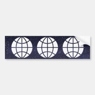 Earth Pointers Pictograph Bumper Sticker