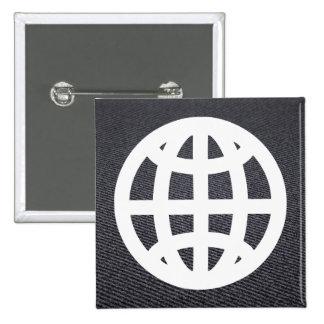 Earth Prisons Icon 15 Cm Square Badge