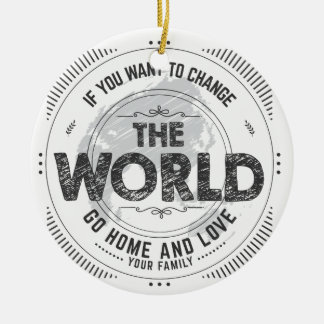 earth quote christmas ornament