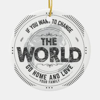 earth quote round ceramic decoration