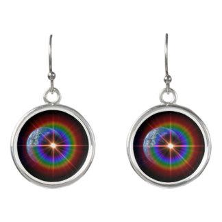 Earth Rainbow light burst! Earrings