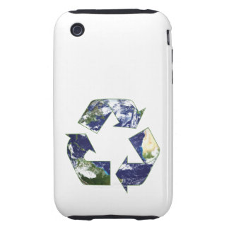 Earth - Recycling Tough iPhone 3 Case