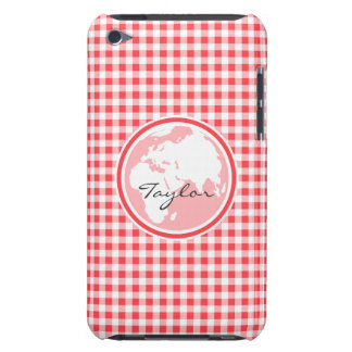 Earth; Red and White Gingham Barely There iPod Covers