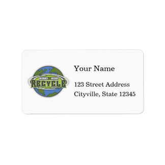 Earth Reduce, Reuse and Recycle Address Label