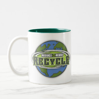 Earth Reduce, Reuse and Recycle Coffee Mugs