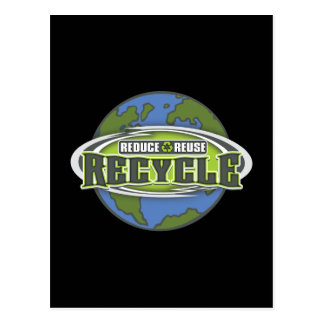Earth Reduce, Reuse and Recycle Post Cards