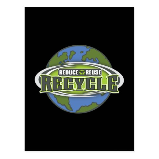 Earth Reduce, Reuse and Recycle Postcard