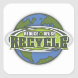 Earth Reduce, Reuse and Recycle Sticker