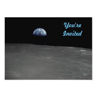 Earth Rise 13 Cm X 18 Cm Invitation Card