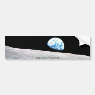 Earth rise bumper sticker