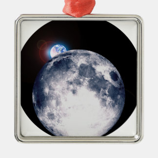 Earth Rise Christmas Ornament