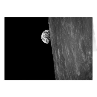 """Earth-Rise,"" First Photo of this from Space Greeting Card"