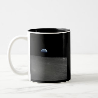 Earth Rise Two-Tone Coffee Mug
