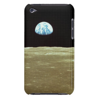 Earth rising over Moon iPod Touch Cases