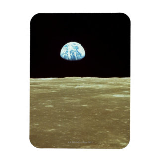 Earth rising over Moon Magnet
