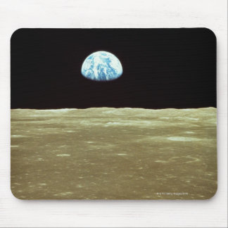Earth rising over Moon Mouse Mat