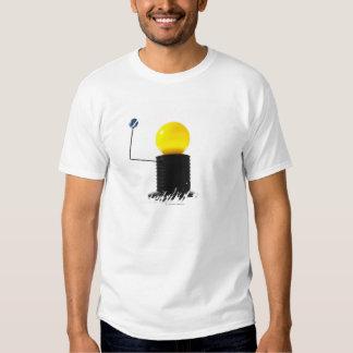 Earth rotating sun model on white background shirt